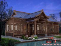买三亚木屋当选富林木结构工程 度假村木结构设计