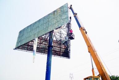 诚信青岛广告牌拆除回收热线电话值得信赖——青岛广告牌拆除回收