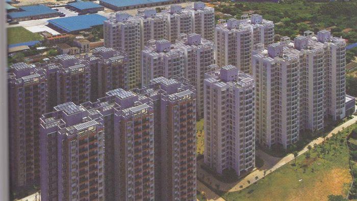 住宅小区高层楼房房顶集中集热太阳能免费热水到户