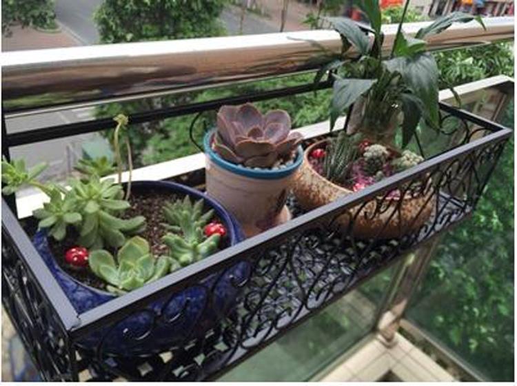 欧式阳台栏杆花架 悬挂铁艺种菜架