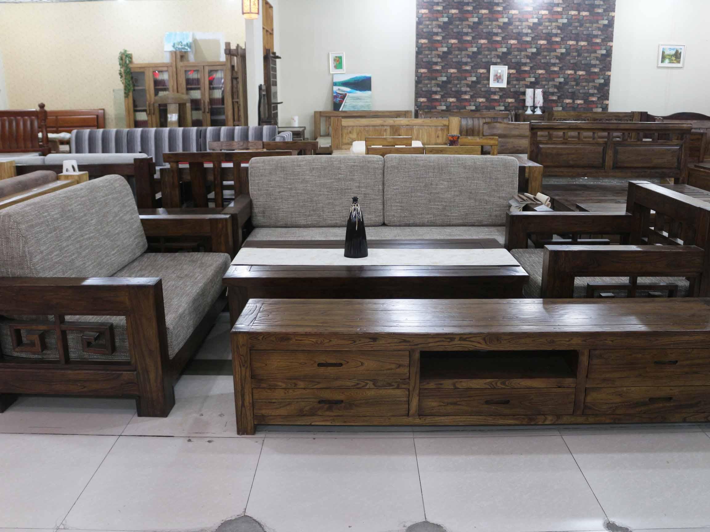 高档实木家具——淄博知名的老榆木家具供应厂家