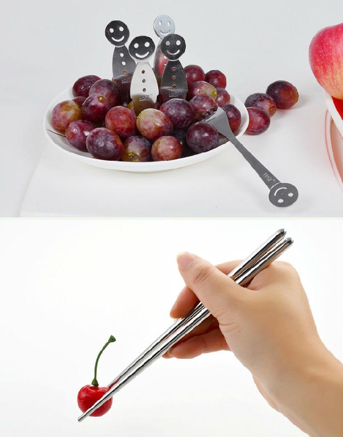 卡通笑脸不锈钢餐具广告促销创意礼品创意礼物图片