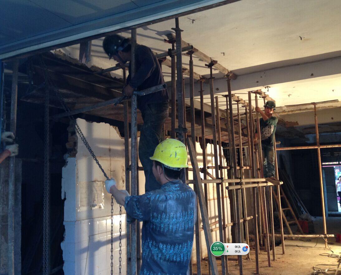 承重墙拖换加固工程,旧楼改造