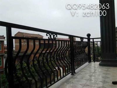 欧式不锈钢黑钛阳台栏杆