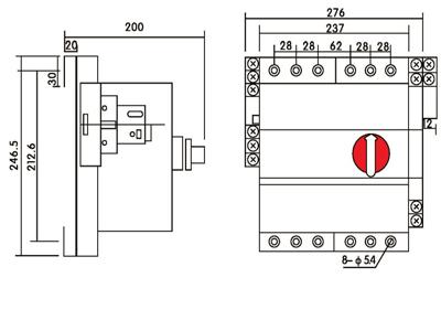 jckbos-125四级双电源自动转换开关