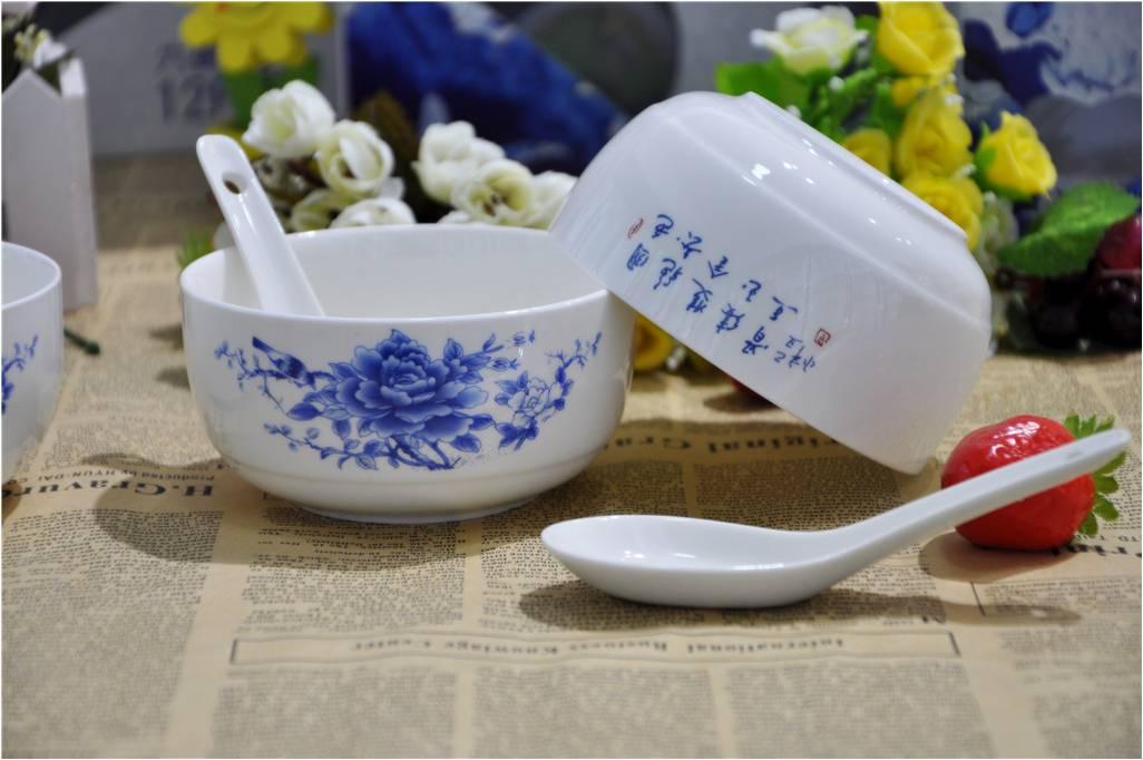 青花瓷碗套装厂家-爆款青花碗套装供应商——晓衡陶瓷
