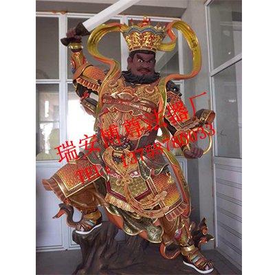 四大金刚护法佛教禅寺定制佛像,精巧的四大天王瑞安博尊法器优惠供应