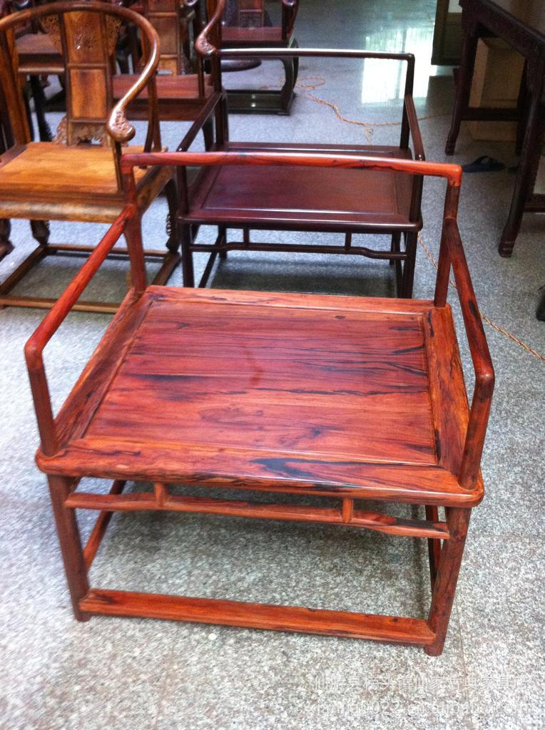 仙家紫檀 小叶紫檀禅椅 印度小叶紫檀家具图片