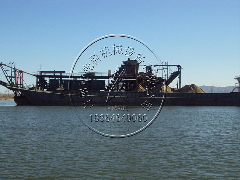 链斗式挖沙船运沙船价格—青州先科机械