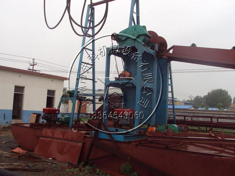 链斗式挖沙船价格、图片、参数——青州先科机械设备有限公司