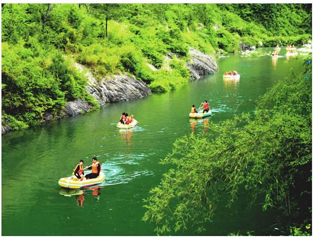 郑州到尧山大峡谷漂流