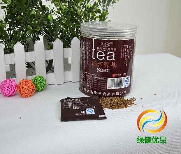 荞师傅罐装全胚黑苦荞茶