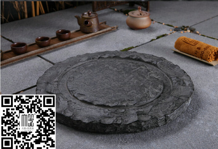 黑色烏金石茶盤 石壁 品牌大器石茶盤