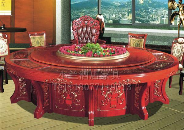 南宁酒店家具厂豪华实木电动餐桌定做