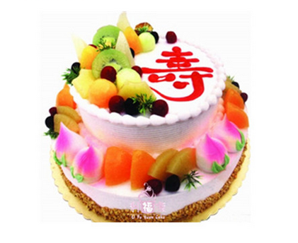 寿福无边祝寿蛋糕 最全生日蛋糕