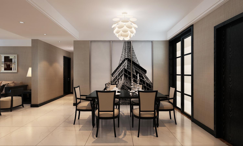 室内装修欧式古典餐厅背景