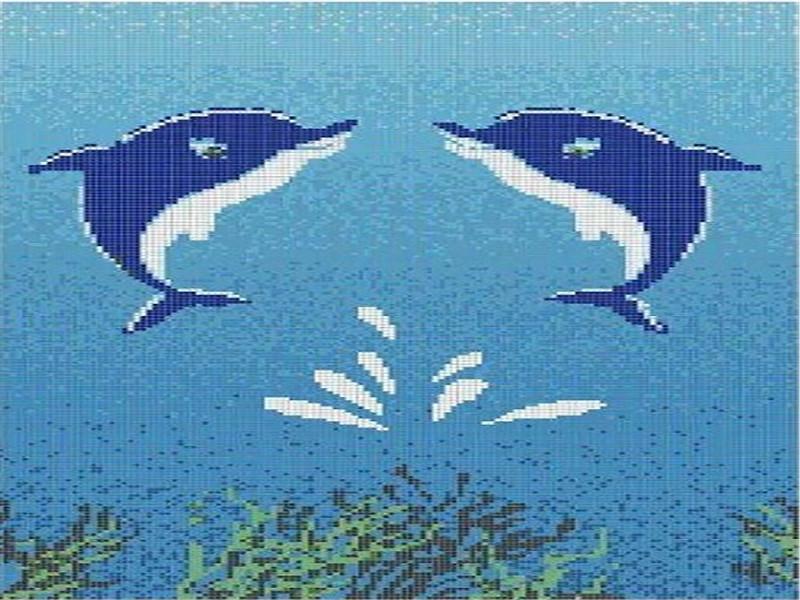 泳池马赛克瓷砖