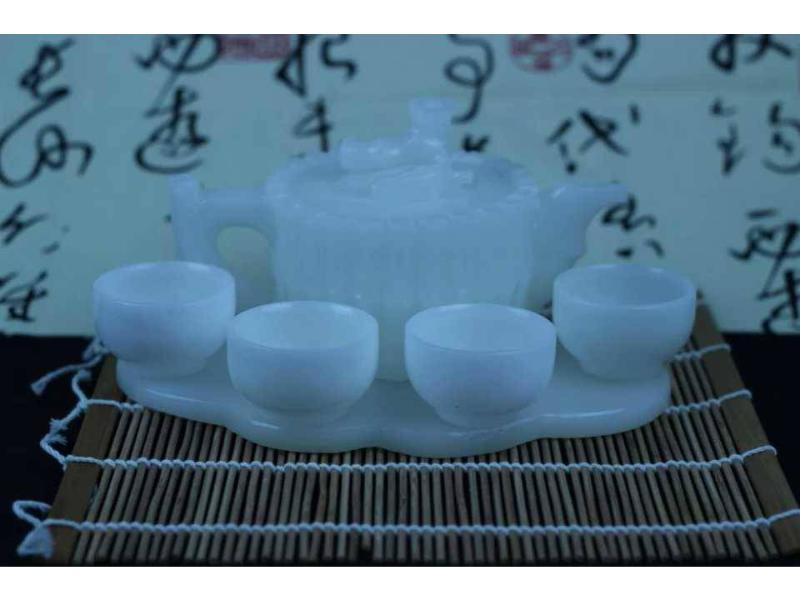 阿富汗白玉茶具