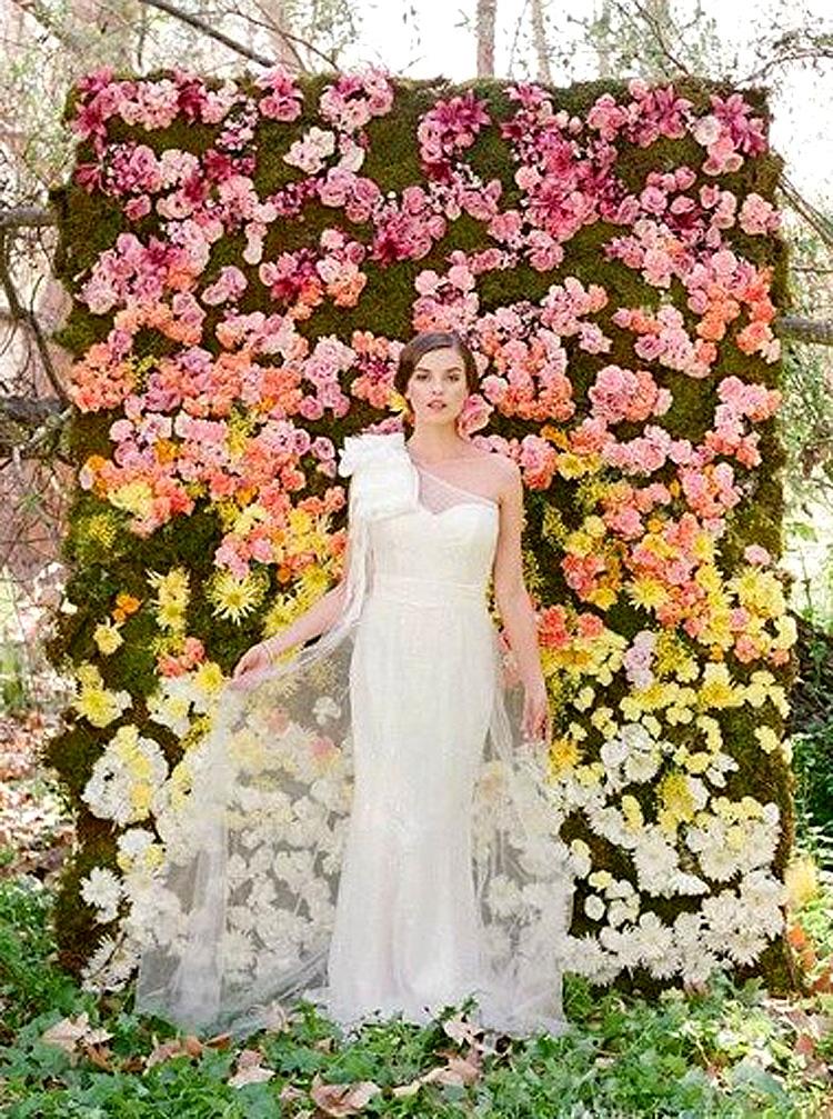 仿真花墙面婚纱摄影婚庆背景墙各色花墙绣球花人造拍照植物墙