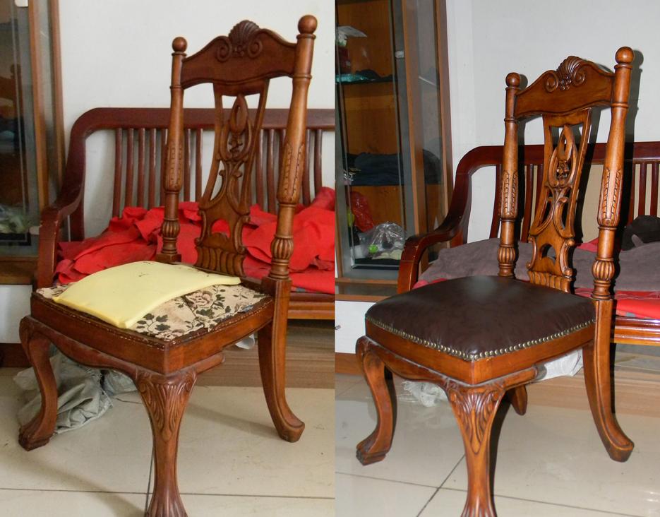 真皮餐椅翻新