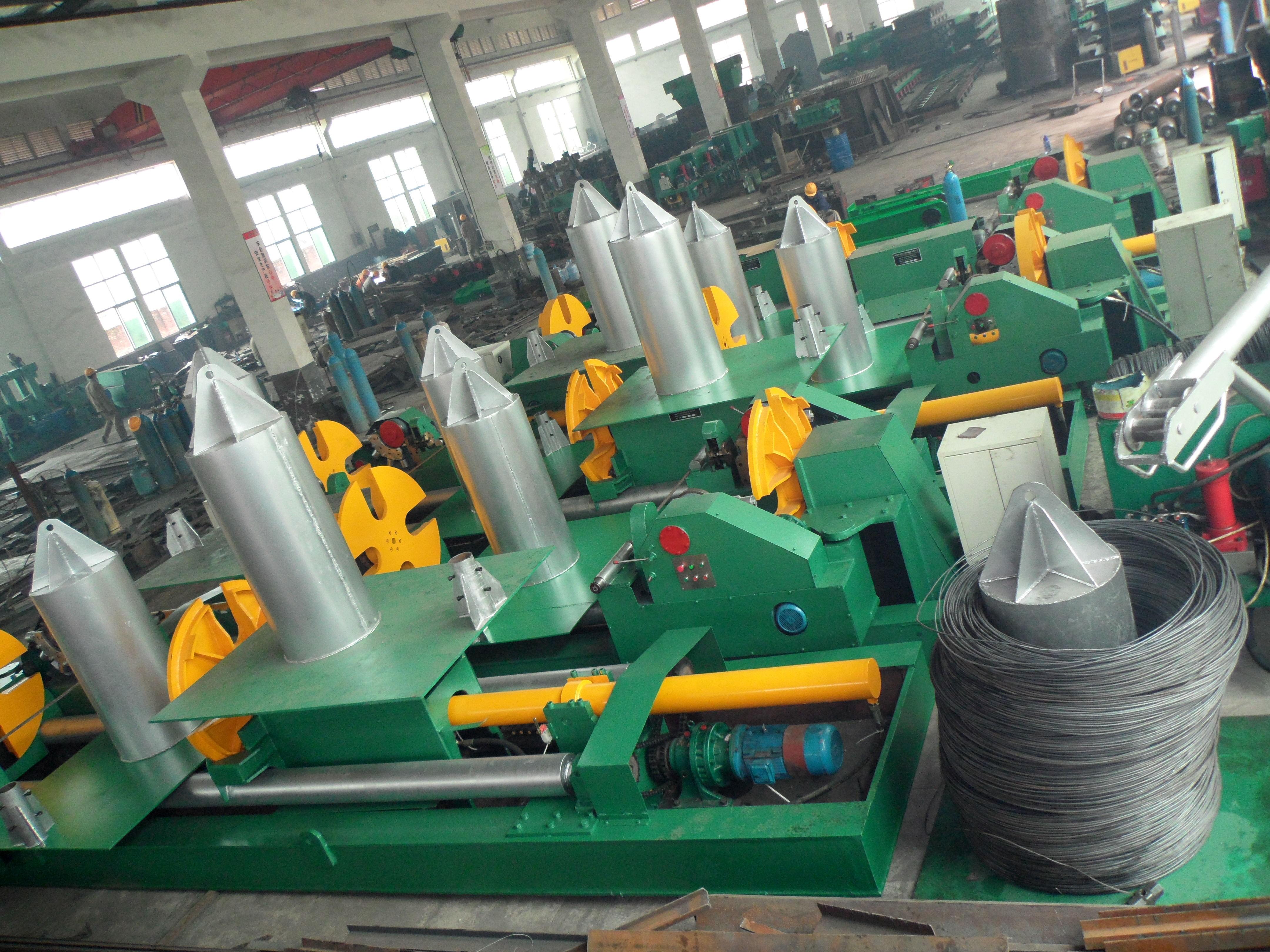 高速线材生产线打包机的应用