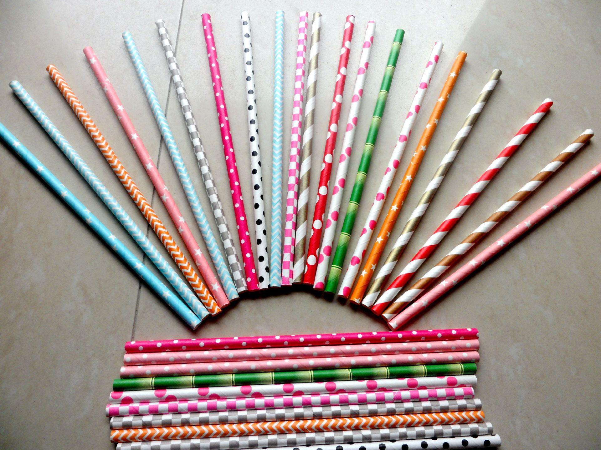 生产一次性纸吸管 【荐】新款彩色纸吸管