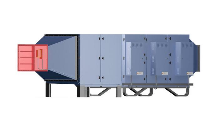 工业废气净化器  卧式工业废气净化器