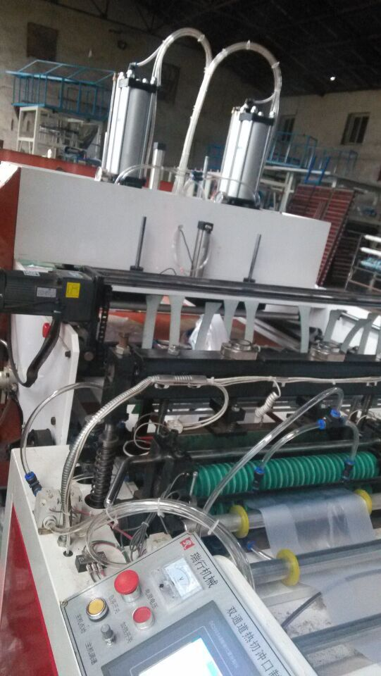 全新型高速制袋机.冲口全自动双排热切机