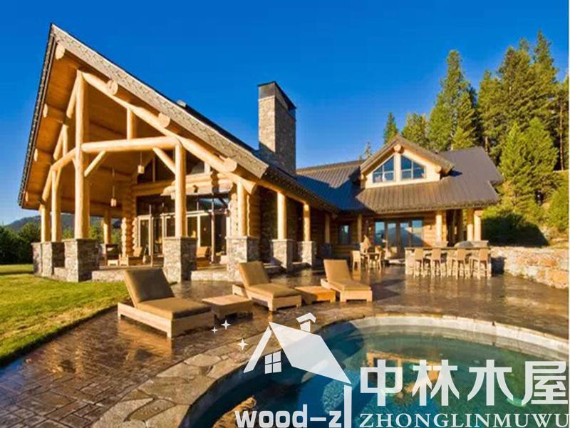 海南木结构房屋 重型木结构建筑的特点: 1.重型木结构建筑风格多样,造型设计灵活多变,内部功能分区合理,配置齐全。 2.施工期短,工期仅为传统房屋的1/2,安装省工、省时,施工现场简洁、干净。 3.稳定性好,经久耐用,防腐、防火、防潮、抗震性能佳。 4.透气性强,保温性好,可调节室内的温度和湿度,冬暖夏凉。 5.