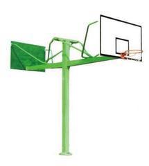 JMY-1018地埋圆管双位篮球架