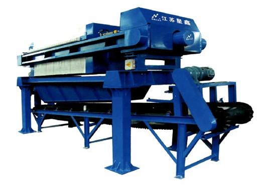 1000型全自动配套输送带厢式压滤机