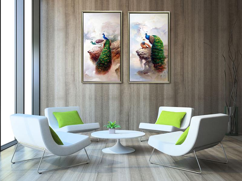 孔雀油画|动物油画|手绘油画批发|油画出口-258.com