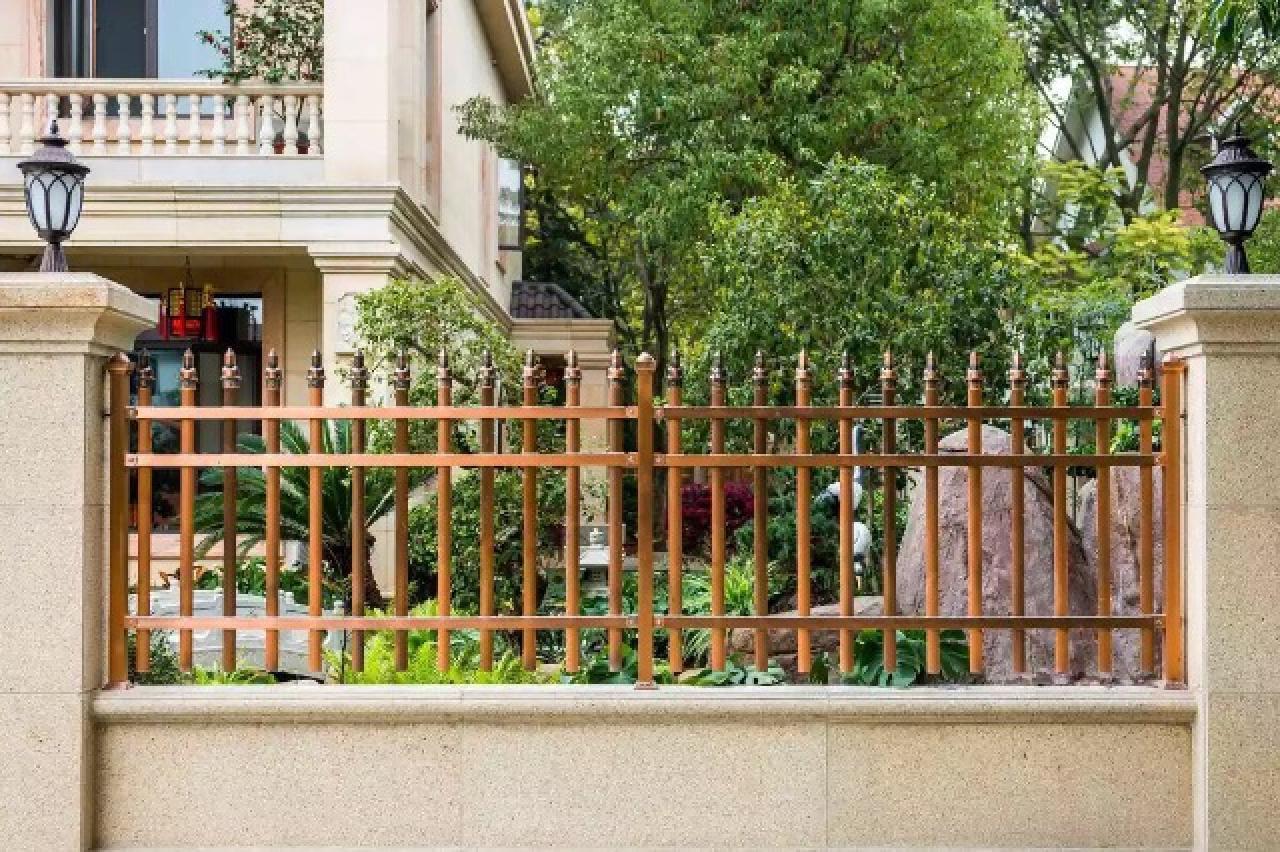 不锈钢镀铜栅栏 别墅栅栏