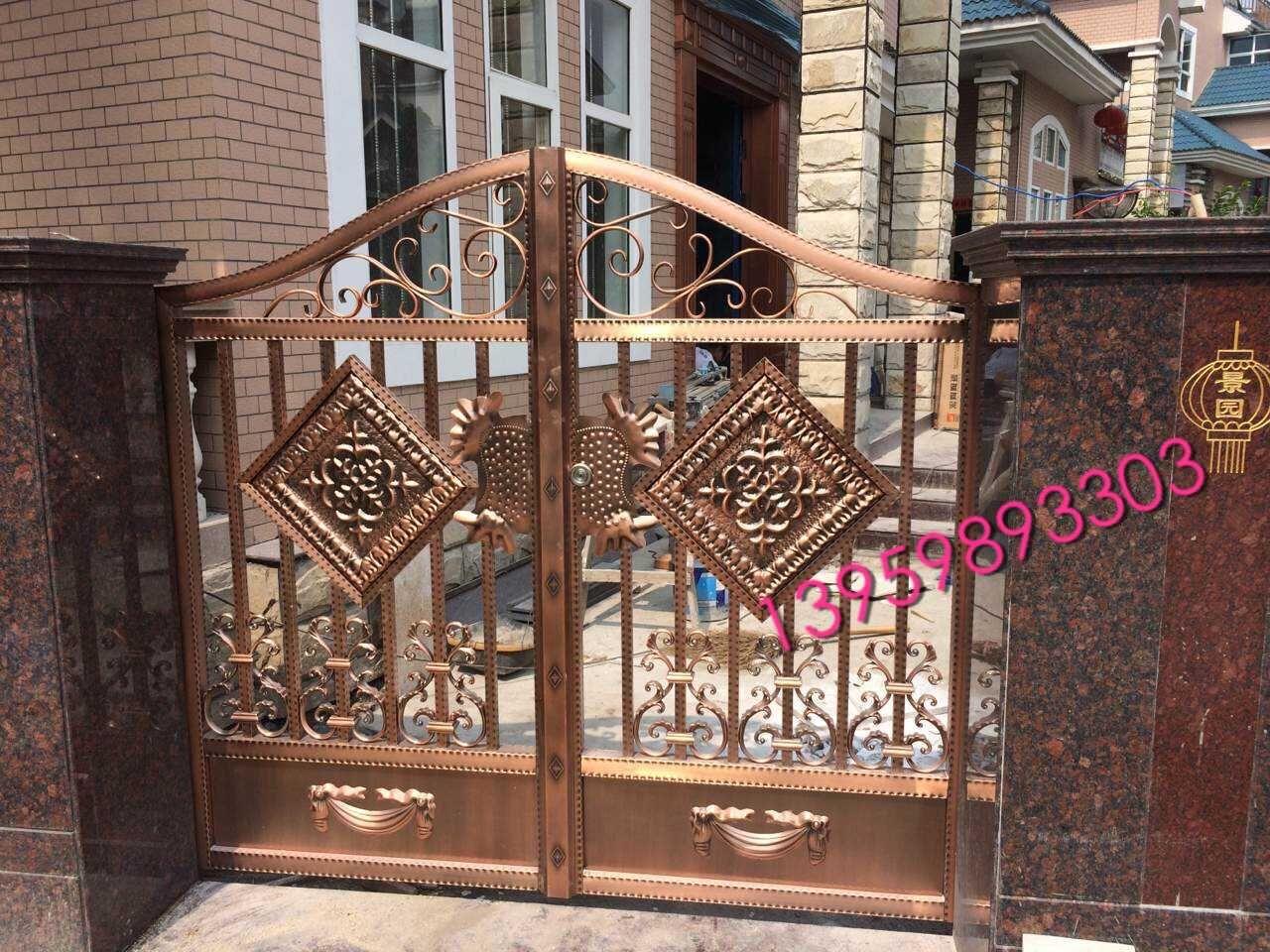 不锈钢镀铜围墙栏杆庭院门厂家报价?-258