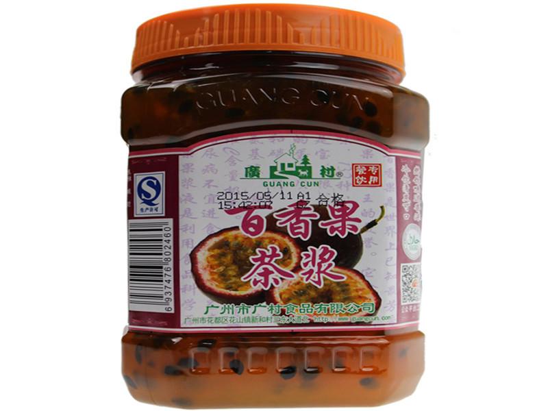 广村百香果果酱百香果果肉饮料花果茶百香果酱果肉饮料浓浆