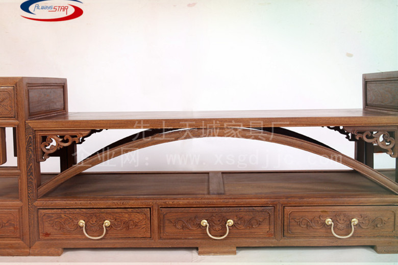 红木家具鸡翅木电视柜明清古典客厅电视柜组合中式实木仿古电视柜