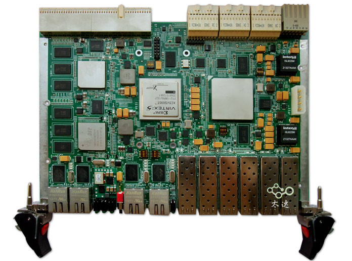 TMS320C6678+XC7K420T数据处理平台