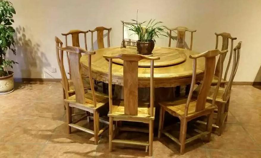 金丝楠圆餐桌十一件套|金丝楠木系列-仙游县庆宴红木