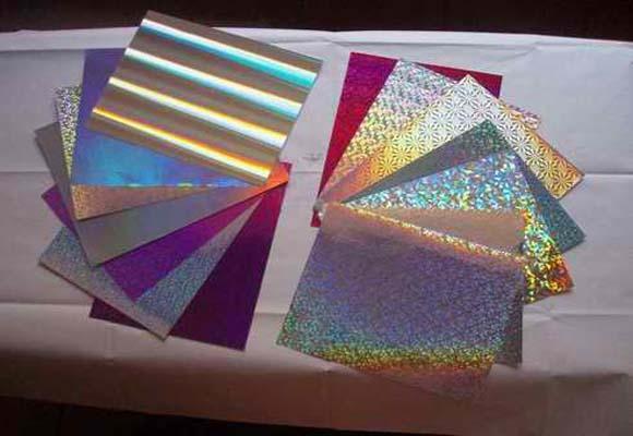彩虹镭射银卡纸