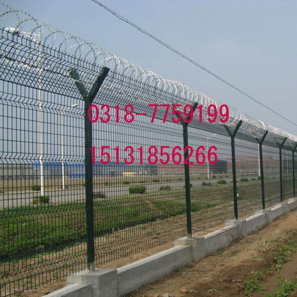 定做刀片刺焊接护栏 监狱围墙加高防爬围栏 焊接刀片刺隔离栏网