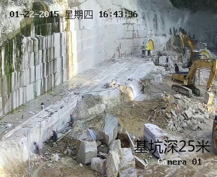 基坑石材切割