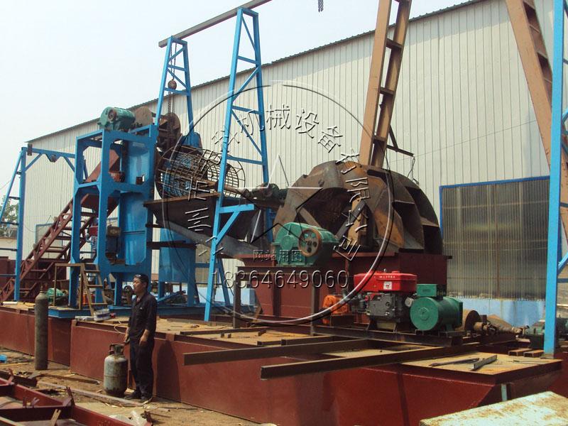 链斗式挖泥船带水洗—青州先科采沙好设备