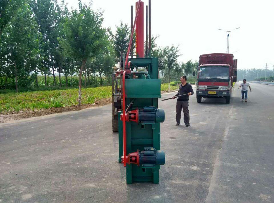 药材打包机生产设备在山东临清液压机械
