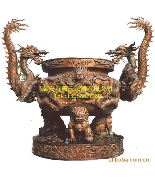 精巧别致的宫观专用香炉供应|专业的厂家生产寺庙圆形香炉