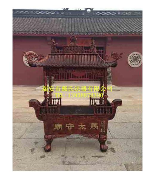信誉好的温州香炉厂家——戴氏法器厂专业供应寺庙用长方形香炉