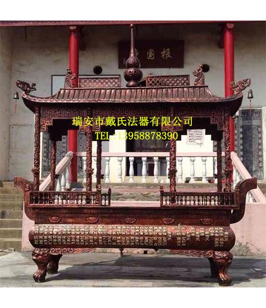 铜香炉专业生产厂家|道观铜香炉温州铜香炉厂