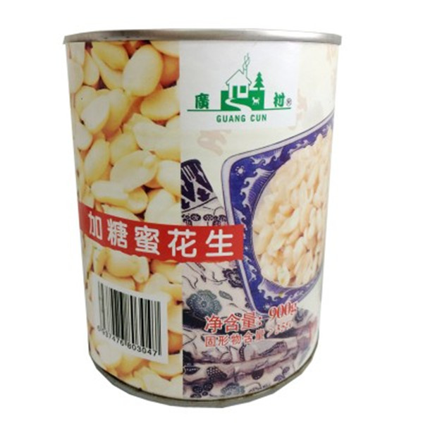 广村花生罐头 加糖蜜花生罐头  甜品奶茶花生罐头  灌装花生