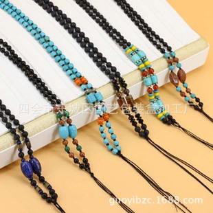 珠宝首饰包装 纯手工编织 玛瑙珠项链 绳 男女款高档吊坠挂绳