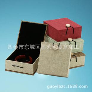 肇庆便宜的珠宝首饰麻布纽扣珠盒批售|四会扣珠盒