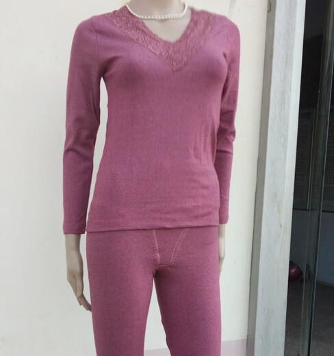 女士秋冬必备保暖内衣供应 FTY发热护腰护膝女套装